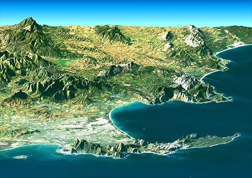 South africa coastline places, Black colour - From £17.50 | Metal Plate Pictures