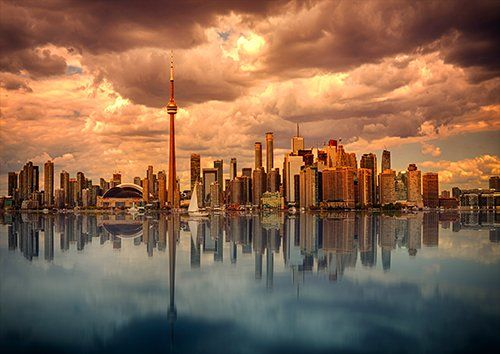 Toronto places, Black colour - From £17.50 | Metal Plate Pictures