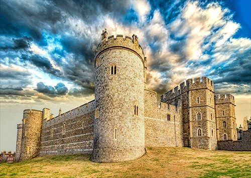 Windsor Castle London England places, Black colour - From £17.50 | Metal Plate Pictures