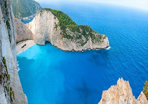 Zakynthos Greece Vacations Sea Travel Greek Island, Black colour - From £17.50 | Metal Plate Pictures