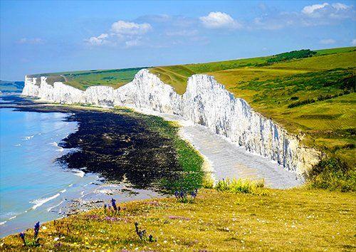 Cliff Landscape Rock Sky seascape, Black colour - From £17.50 | Metal Plate Pictures
