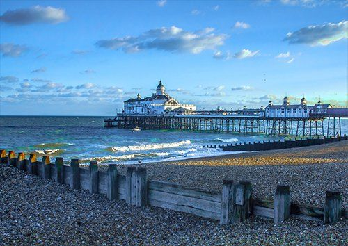 Eastbourne Pier England Seascape, Black colour - From £17.50 | Metal Plate Pictures