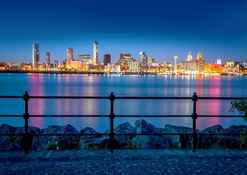 Liverpool City Merseyside England Uk, Black colour - From £17.50 | Metal Plate Pictures