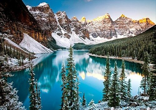 Moraine lake alberta Canada, Black colour - From £17.50 | Metal Plate Pictures