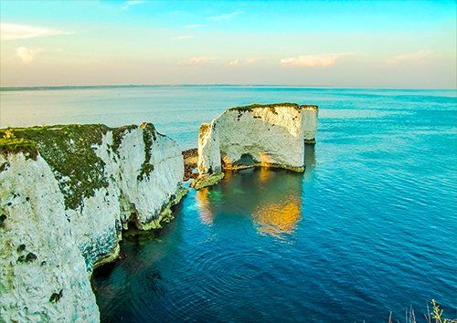 Old harry rocks uk Dorset Ocean, Black colour - From £17.50 | Metal Plate Pictures