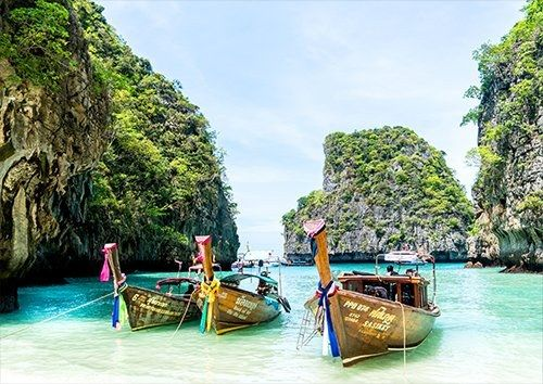 Thailand Phuket Koh Phi Phi Island, Black colour - From £17.50 | Metal Plate Pictures