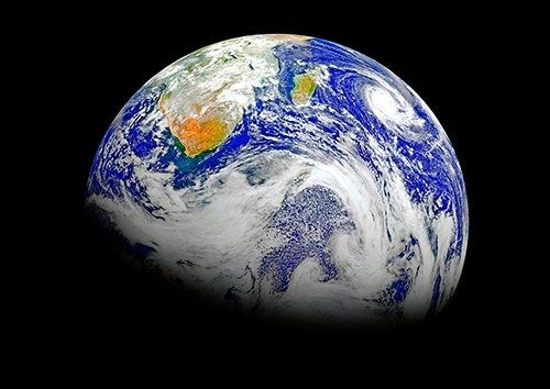 Earth southern hemisphere, Black colour - From £17.50   Metal Plate Pictures