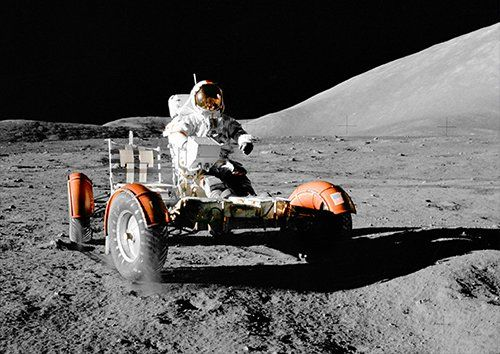 Moon vehicle car, Black colour - From £20.50 | Metal Plate Pictures