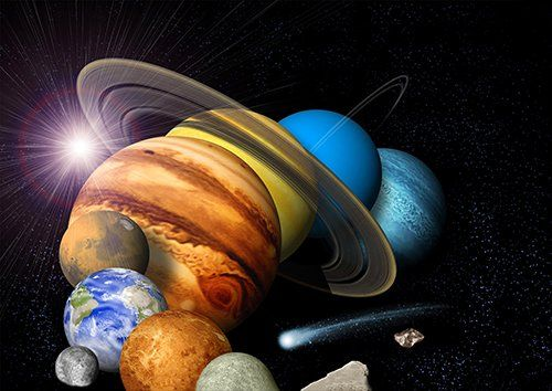 Outer space solar system, Black colour - From £17.50 | Metal Plate Pictures