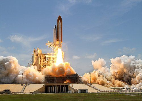 Rocket launch take off, Black colour - From £20.50 | Metal Plate Pictures