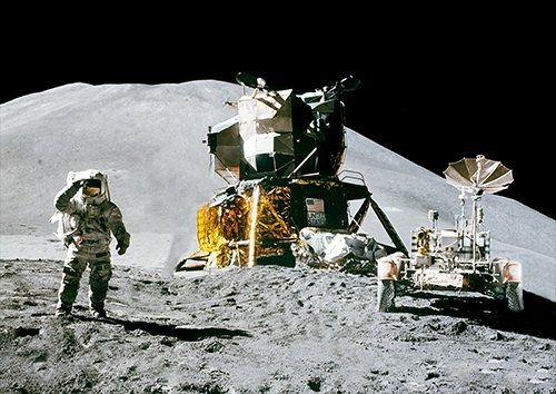 Space moon set up camp, Black colour - From £17.50 | Metal Plate Pictures