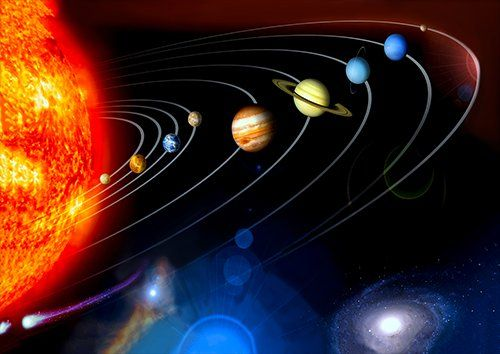 Space planets, Black colour - From £17.50 | Metal Plate Pictures