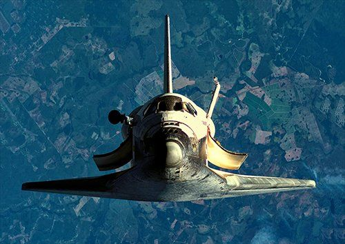 Space shuttle Discovery, Black colour - From £20.50 | Metal Plate Pictures
