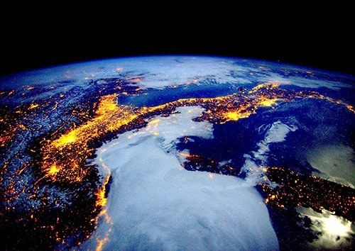 Space view earth, Black colour - From £17.50 | Metal Plate Pictures