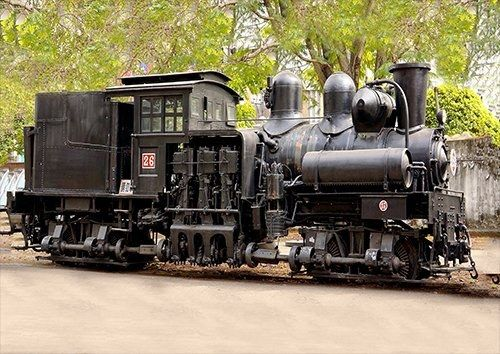 Black Steam Train, Black colour - From £17.50 | Metal Plate Pictures
