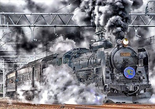 Japan trains, Black colour - From £17.50 | Metal Plate Pictures
