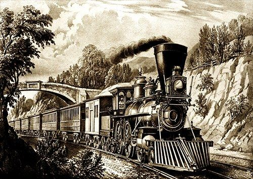 Steam train black and white trains, Black colour - From £17.50 | Metal Plate Pictures
