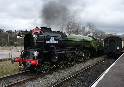 Tornado Steam Train Railway Engine train, Black colour - From £17.50 | Metal Plate Pictures