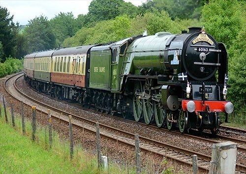 Tornado trains, Black colour - From £17.50 | Metal Plate Pictures