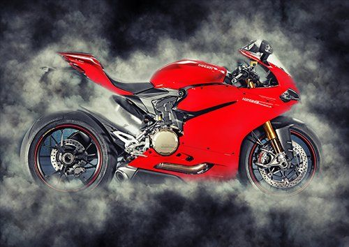 Bike Ducati 1299 Panigale Motorcycle Smoke, Black colour - From £17.50 | Metal Plate Pictures