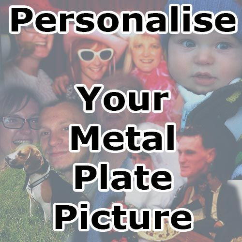 Personalized metal plate product, Black colour - From £17.50 | Metal Plate Pictures