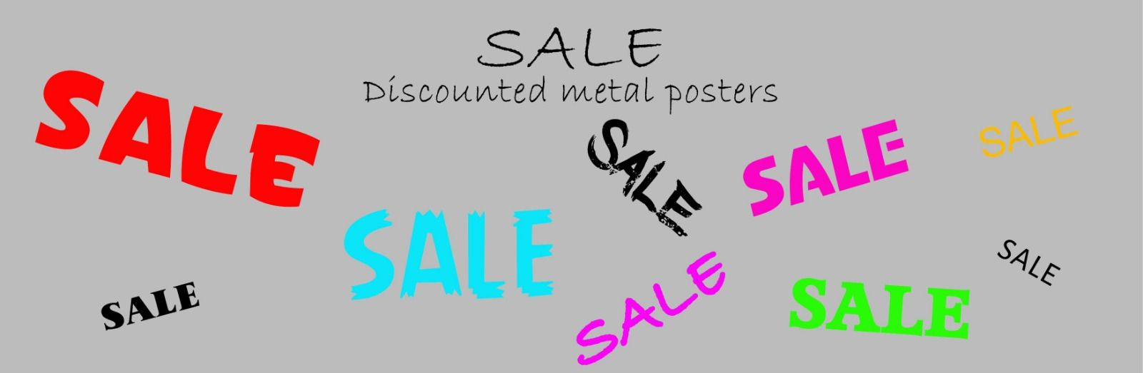 Metal Posters On Sale
