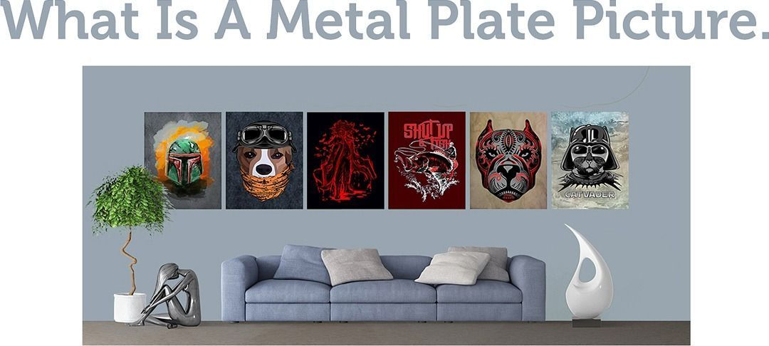 What is a metal plate picture